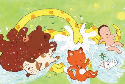 西野沙織 絵本原画展『プール』