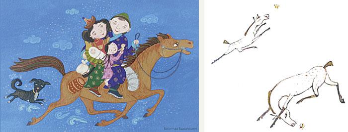 バーサンスレン・ボロルマー イチンノロブ・ガンバートル 「馬の背中に生まれ、馬の背中で死ぬ」
