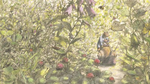 岡田千晶 「ゆめのとびらをひらくとき」「ひだまり」絵本原画展